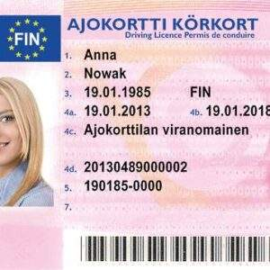 Buy Fake Driver's License of Finland