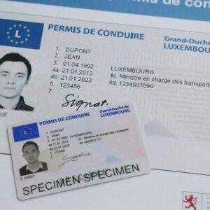 Luxembourg driver card