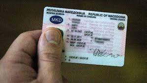 Macedonia driver card