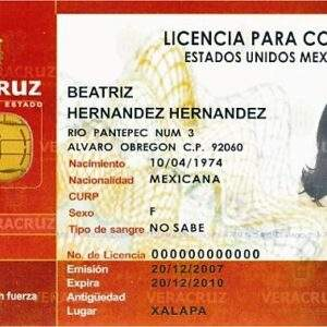 Mexico Fake Driver's License for Sale