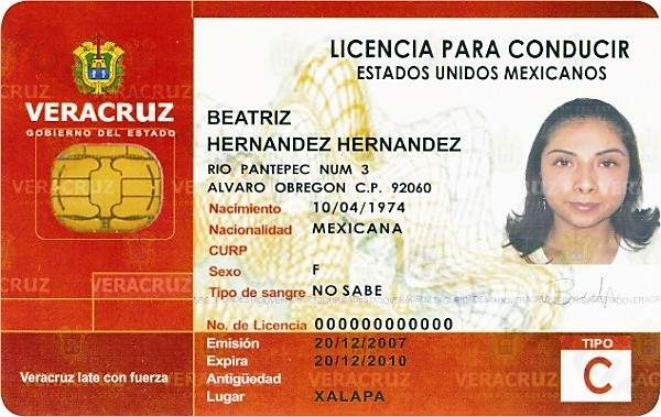 Mexico Driver's License