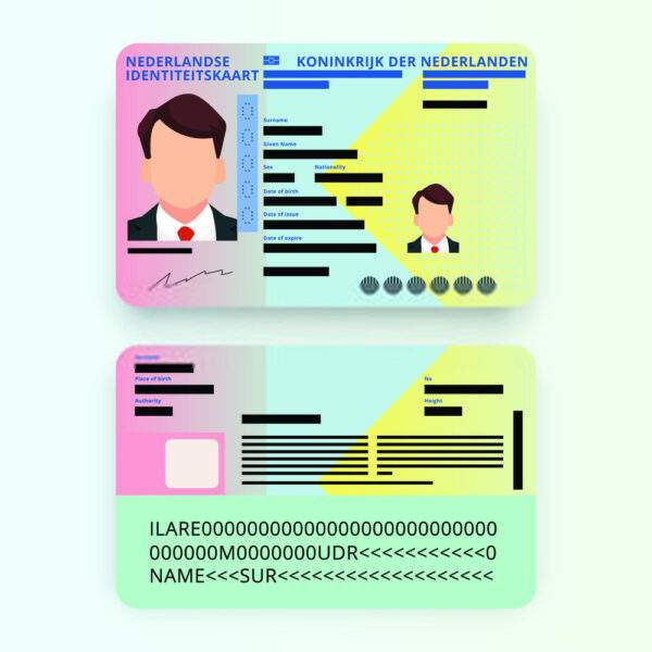Fake ID Card of Netherlands