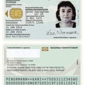 Norwegian real and fake driver's license for sale