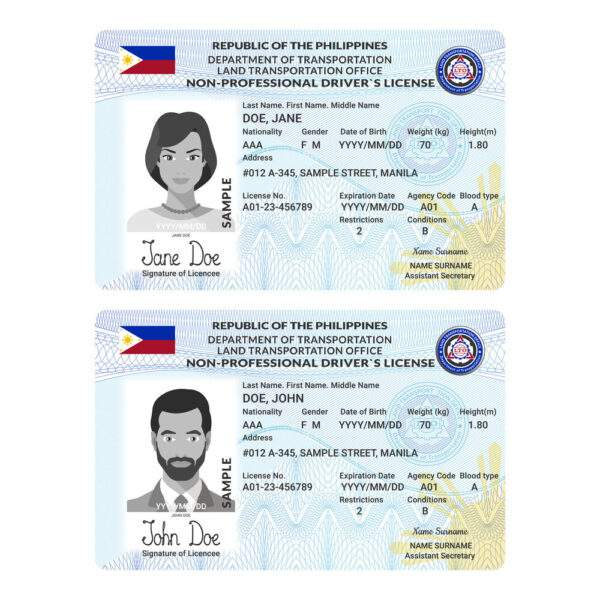 Philippines Fake Driver's License for Sale