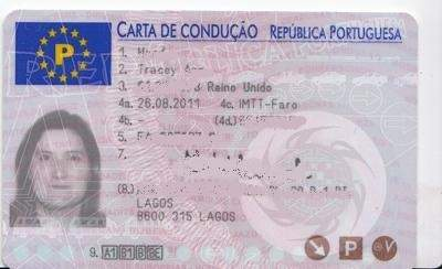 Portugal Driving card