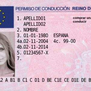 Spain Fake Driver's License for Sale