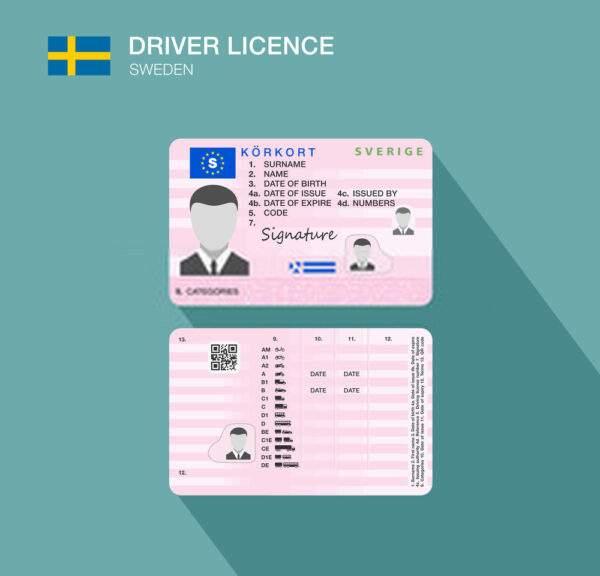 Sweden driver card