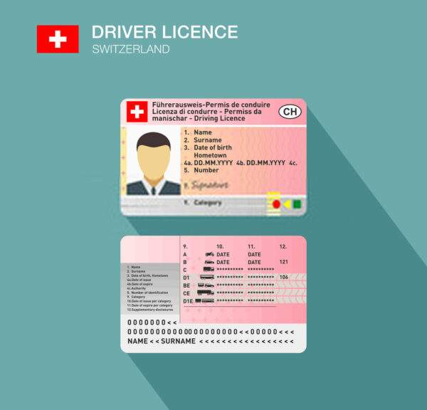 Switzerland Fake Driver's License for Sale