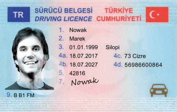 Turkey Fake Driver's License for sale
