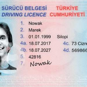 Turkey Driver's License