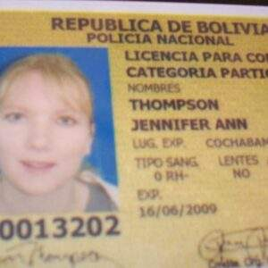 Bolovia Fake Driver's License for Sale