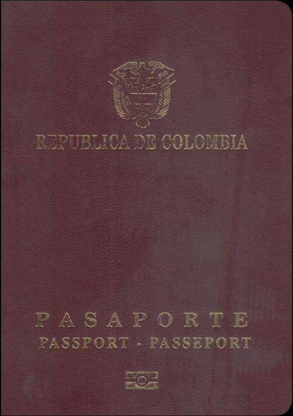 Real Passport of Columbia