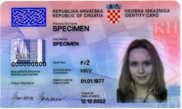 Fake ID Card For Croatia