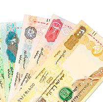 Fake AED-Emirati Dirham Banknotes