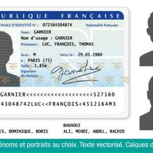Fake ID Card of France