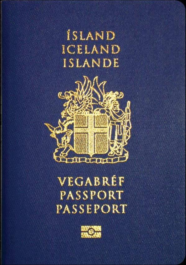 Fake Iceland Passport