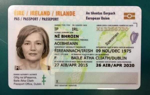 Buy Real ID Card of Ireland