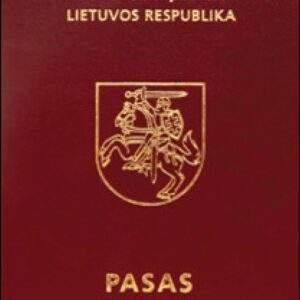 Real Lithuanian Passport