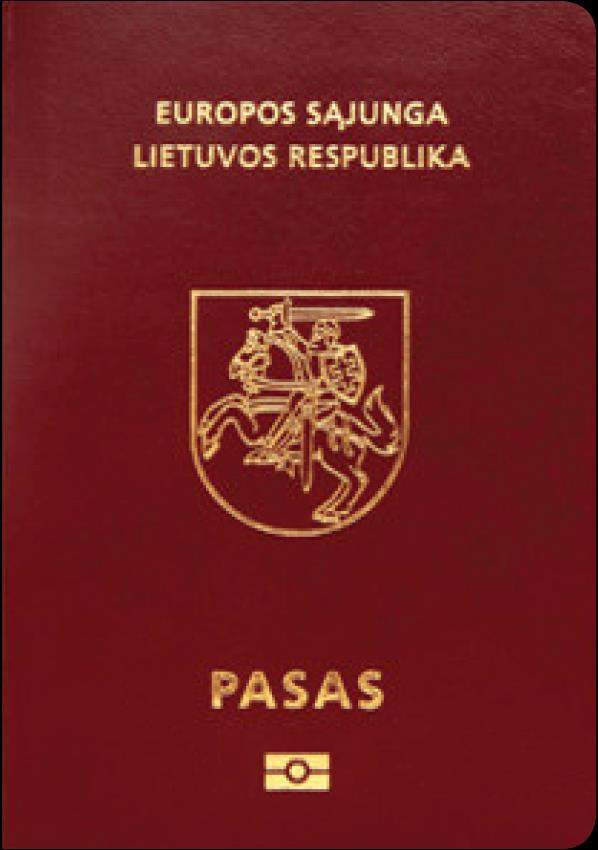 Real Lithuanian Passport