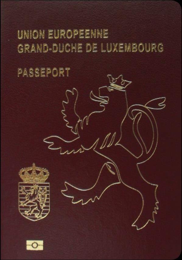 Real Luxembourg Passport
