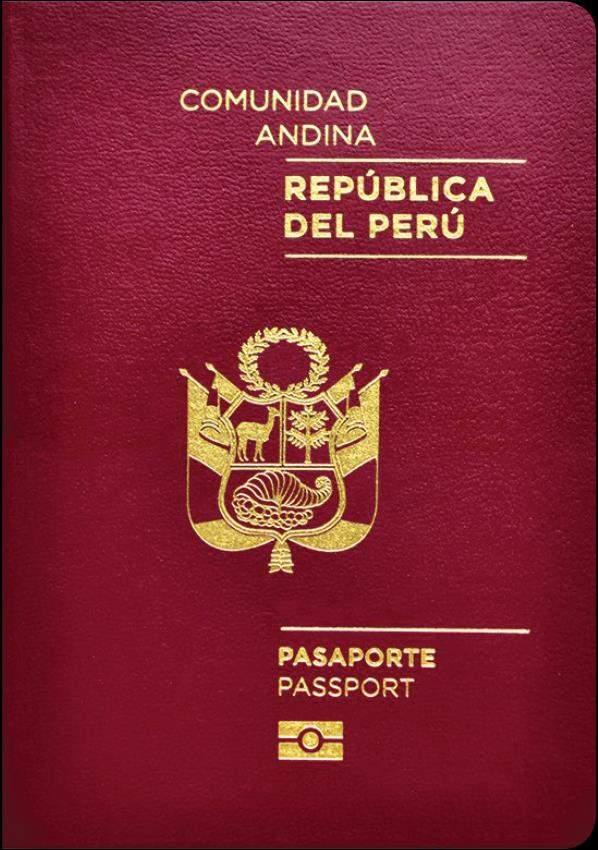 Fake Peru Passport