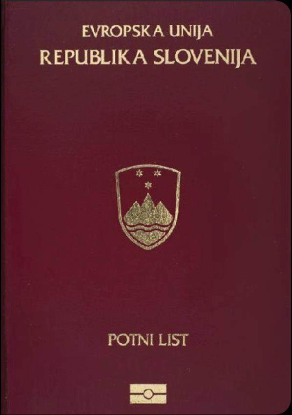 Fake Slovenia Passport