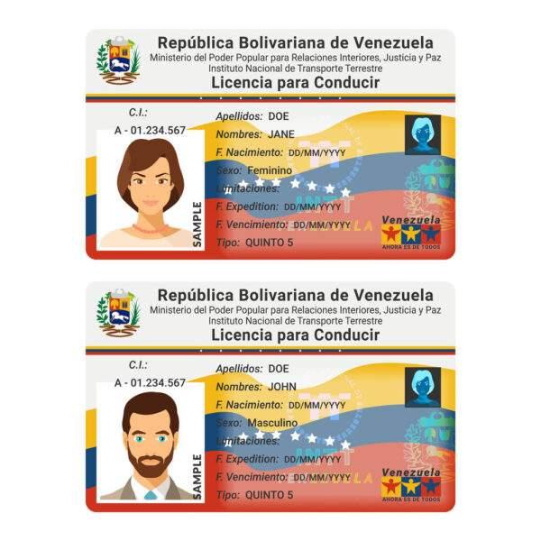 Fake ID Card of Venezuela